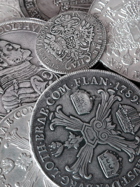old silver coins Stock photo © martin33