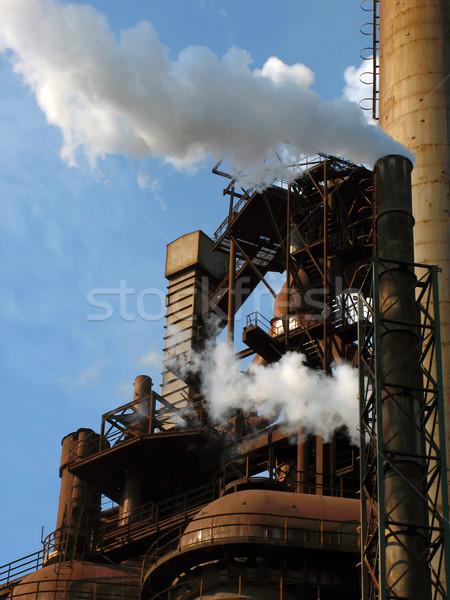 Industriële landschap bouw industrie fabriek energie Stockfoto © martin33