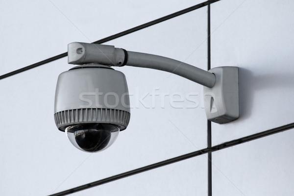 Telecamera di sicurezza tecnologia monitor urbana lampada moderno Foto d'archivio © martin33