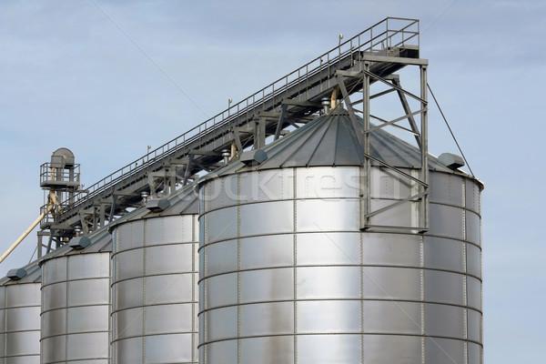Agrarisch opslag Blauw industrie boerderij industriële Stockfoto © martin33