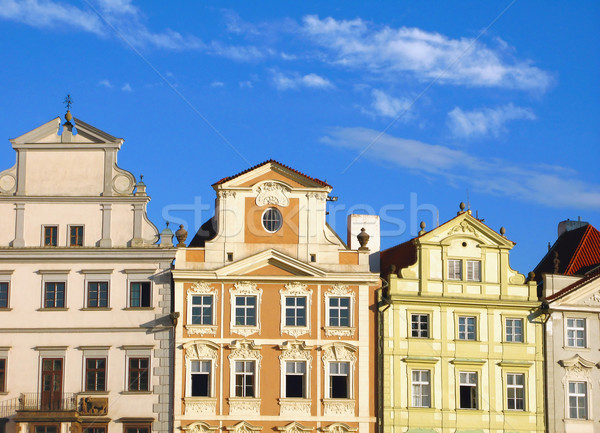 Old Prague houses Stock photo © martin33