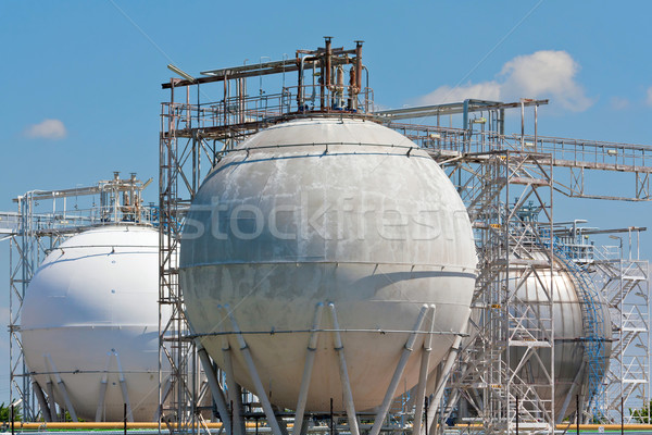 Rafineria przechowywania niebo budowy technologii przemysłu Zdjęcia stock © martin33