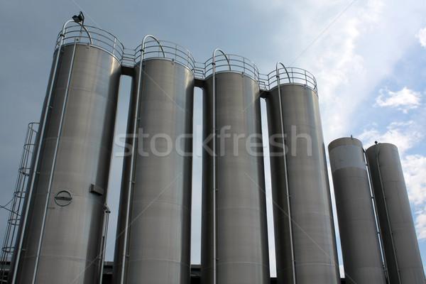 steel tanks Stock photo © martin33