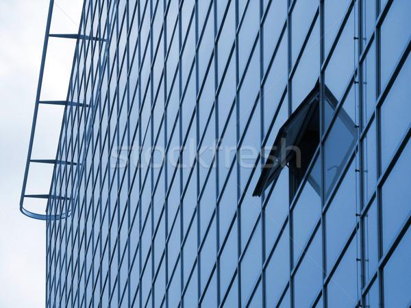 Modern bina ev doku Bina soyut cam Stok fotoğraf © martin33