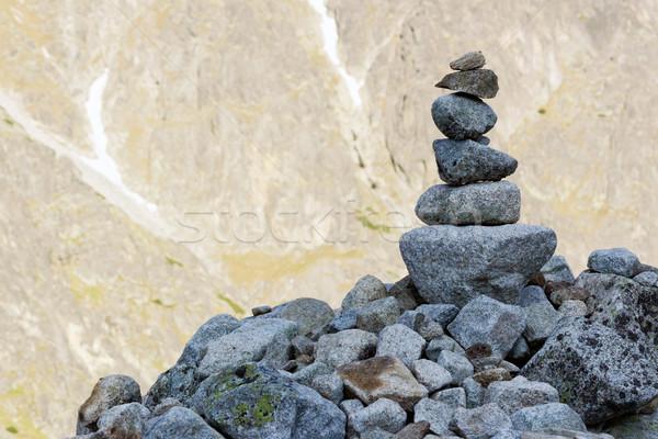 Steen bergen succes wandelen meditatie Stockfoto © martin33