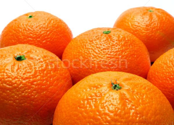 Meyve turuncu beyaz taze tatlı ürün Stok fotoğraf © martin33