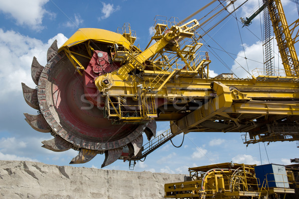 Coal mine excavator Stock photo © martin33