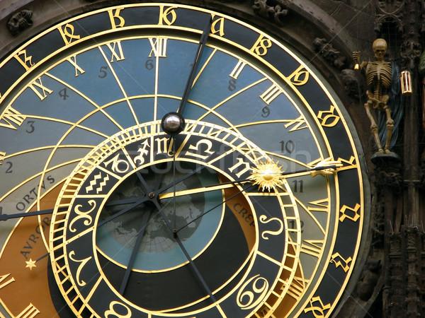 Astronomical clocks, Prague Stock photo © martin33