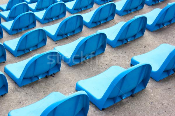 Bleu stade concrètes ligne séance perspectives Photo stock © martin33