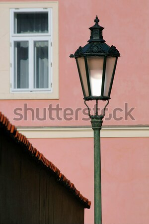 Prague rue lampes bâtiment ville mur Photo stock © martin33