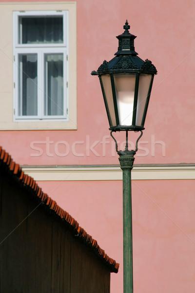 Prague street lamp Stock photo © martin33