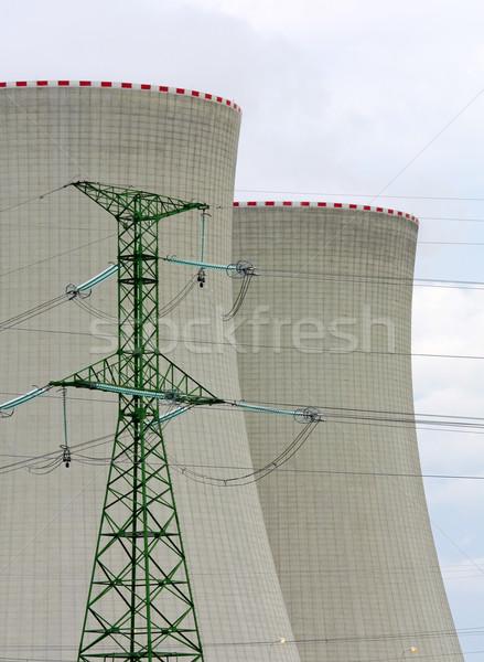 Enerji üretim Bina teknoloji sanayi beton Stok fotoğraf © martin33