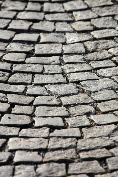 Piedra pavimento calle fondo urbanas rock Foto stock © martin33