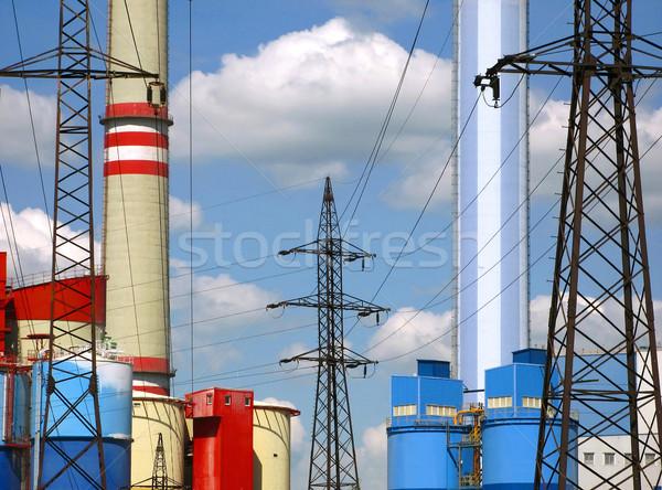 Elektrik santralı teknoloji güç bitki elektrik elektrik Stok fotoğraf © martin33