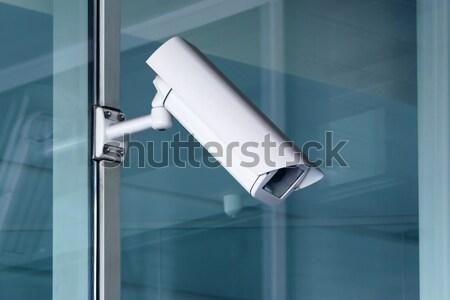 Bewakingscamera technologie glas veiligheid monitor stedelijke Stockfoto © martin33