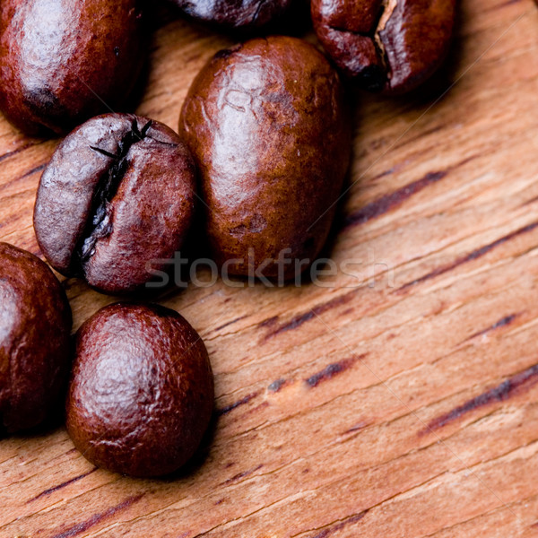 Stock photo: fried coffee beans