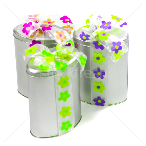 metal gift boxes Stock photo © marylooo