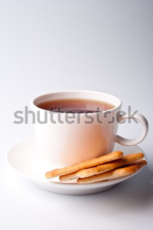 cup of tea and cookies Stock photo © marylooo