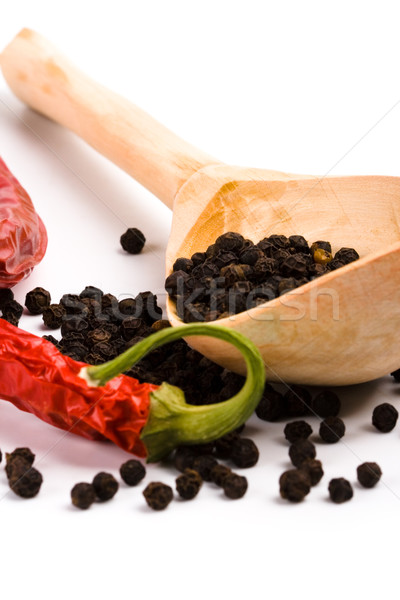 spices and wooden spoon Stock photo © marylooo