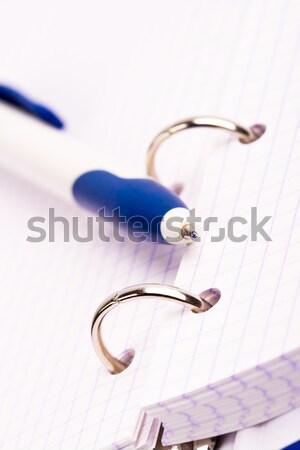 Tervező toll üzlet szervező notebook könyv Stock fotó © marylooo