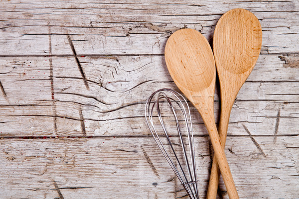 spoons and wire whisk Stock photo © marylooo