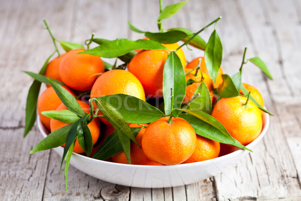 fresh tangerines in a bowl  Stock photo © marylooo