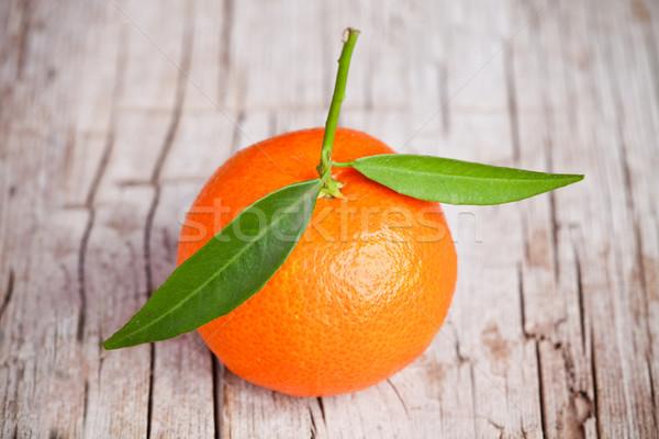 fresh tangerine with leaves  Stock photo © marylooo