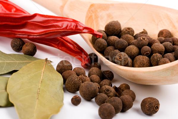 épices laisse poivre fond Photo stock © marylooo