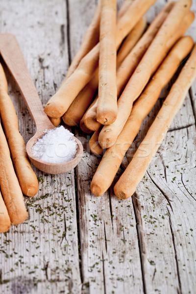 bread sticks grissini with rosemary and salt  Stock photo © marylooo