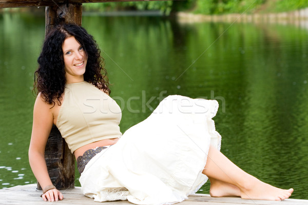 woman near the water Stock photo © marylooo