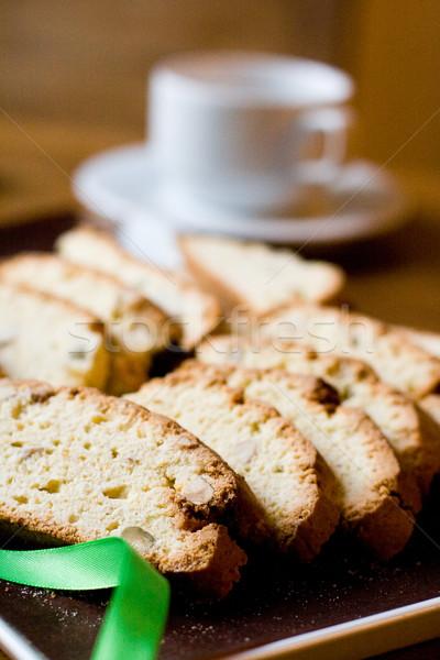 Taze kurabiye fincan çay kek Stok fotoğraf © marylooo