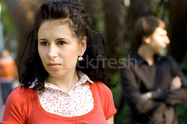 Boldogtalan fiatal pér szabadtér portré férfi nyár Stock fotó © marylooo