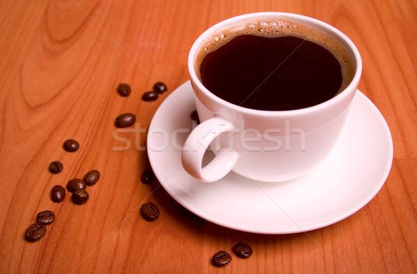 Кубок кофе деревянный стол кофе фон пространстве Сток-фото © marylooo