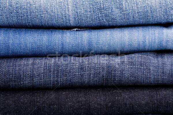 Lumière bleu tissu Photo stock © marylooo