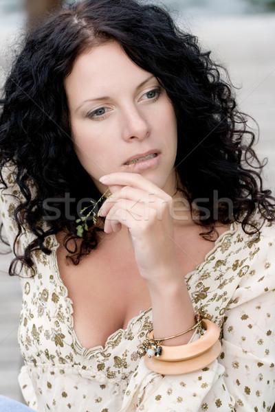 brunet woman Stock photo © marylooo