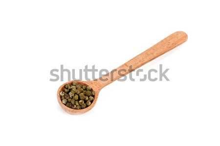 green pepper in wooden spoon Stock photo © marylooo