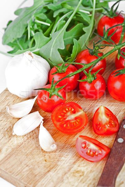 fresh tomatoes, rucola and garlic  Stock photo © marylooo