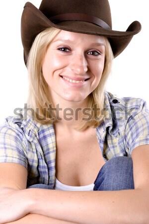 beautiful western woman Stock photo © marylooo