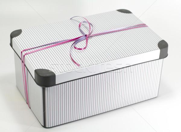 metal gift box Stock photo © marylooo