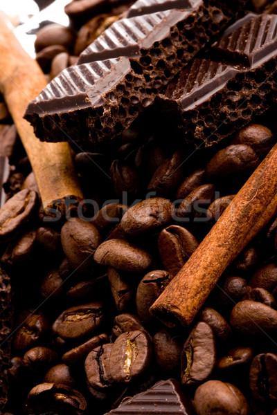 Foto d'archivio: Caffè · cannella · cioccolato · alimentare · candy