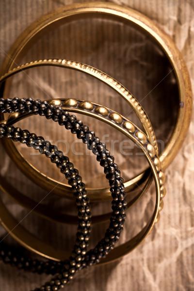 Arany klasszikus papír ajándék ékszerek stílus Stock fotó © marylooo