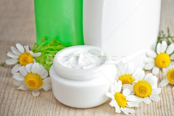 Kosmetik Gesicht Schönheit Flasche Leben spa Stock foto © marylooo