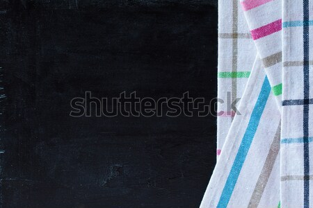 tablecloth textile on blackboard Stock photo © marylooo