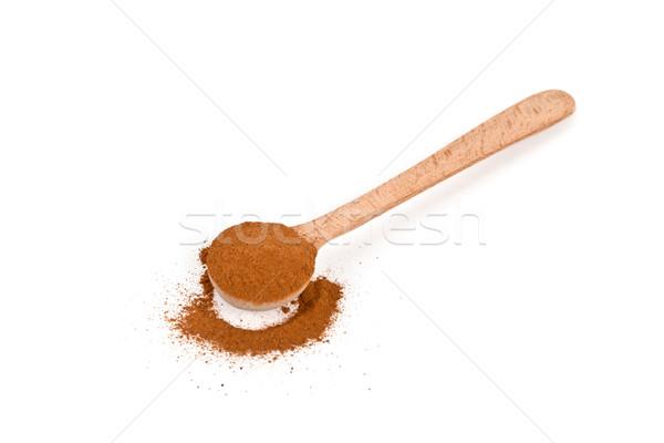 ground cinnamon in wooden spoon Stock photo © marylooo