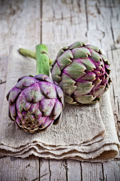 fresh artichokes  Stock photo © marylooo