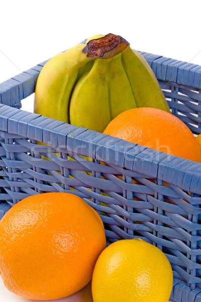 blue basket with fruits Stock photo © marylooo