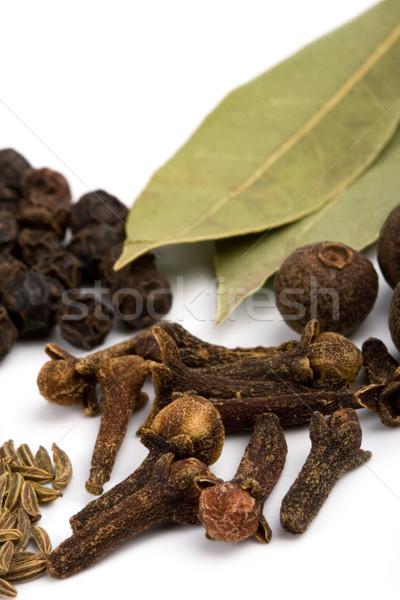 クローブ 黒コショウ 料理 ハーブ クローズアップ 白 ストックフォト © marylooo