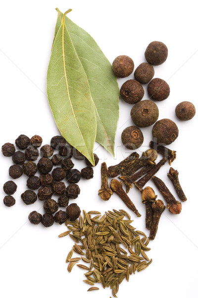 bay leaves, cloves, caraway and black pepper Stock photo © marylooo