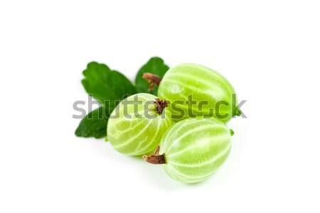 gooseberries with leaves  Stock photo © marylooo