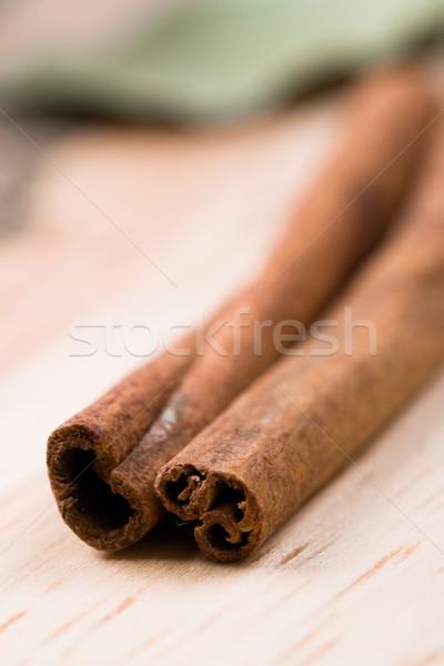 2 シナモン クローズアップ 木製 木材 熱帯 ストックフォト © marylooo